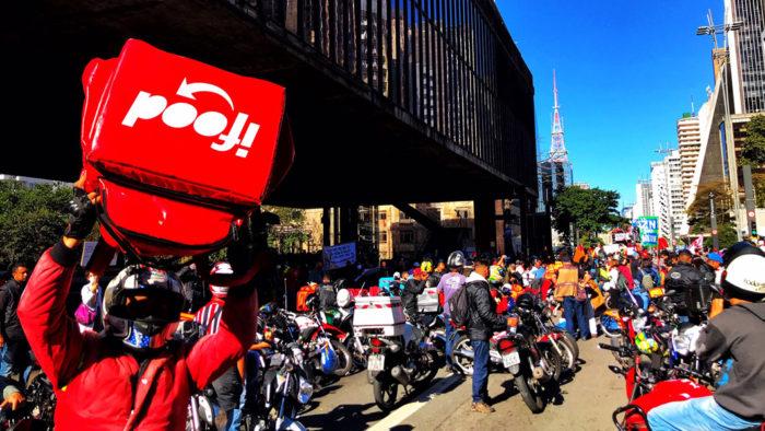 Paralisação de entregadores de iFood, Rappi e Uber Eats em São Paulo (Foto: Roberto Parizotti/Fotos Públicas - 01/07/20)