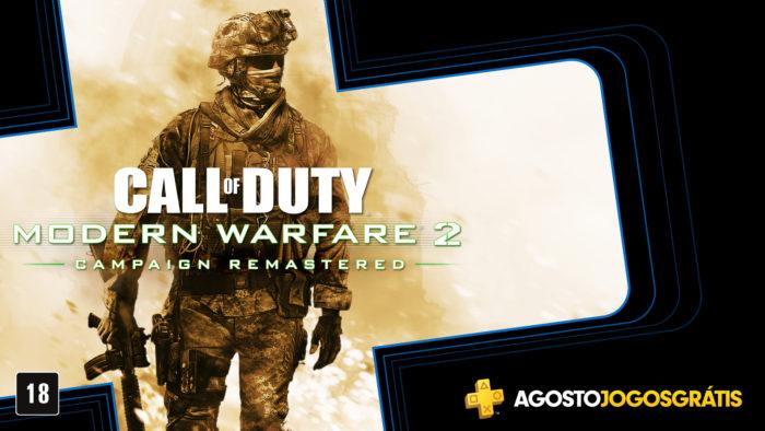 PS Plus de agosto tem modern warfare 2
