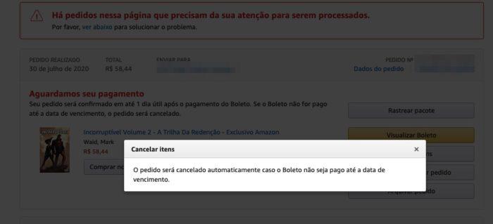 Como cancelar uma compra na Amazon / Felipe Vinha /Reprodução