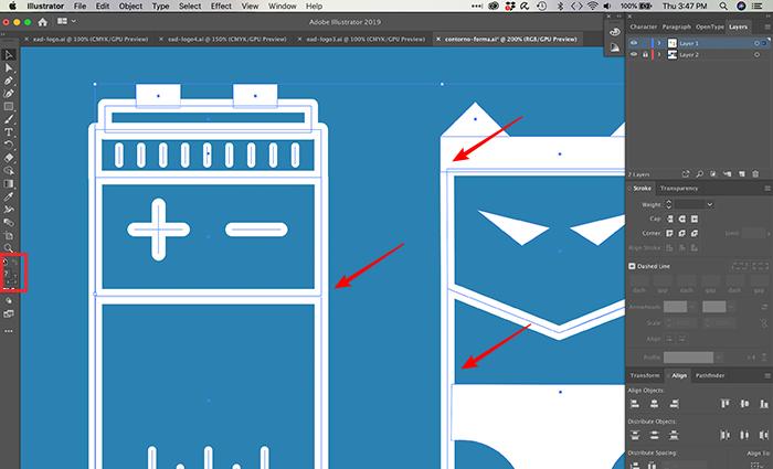 Como converter contorno em objeto no Illustrator