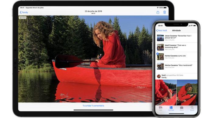 como criar um album compartilhado iphone/reprodução/apple