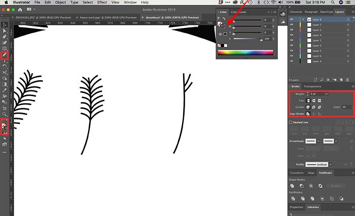 Como desenhar no Illustrator