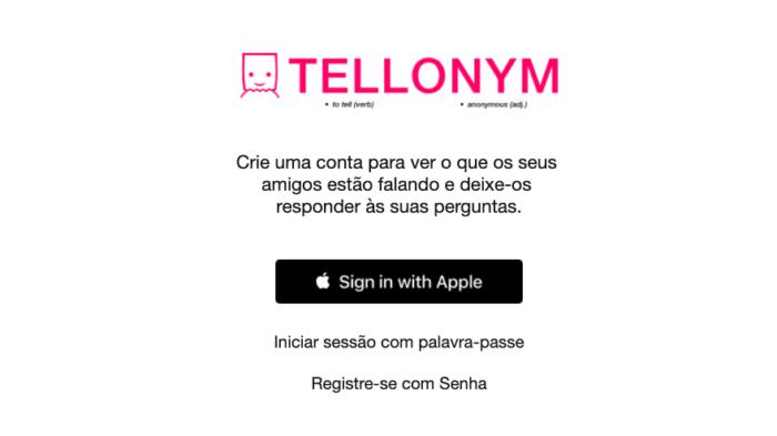 como entrar no tellonym pelo instagram / Felipe Vinha / Reprodução