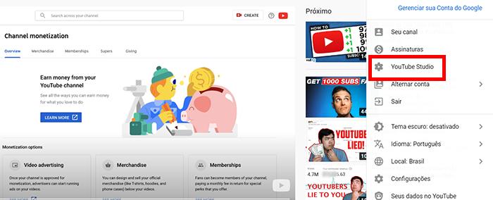 Como funciona o pagamento do Youtube