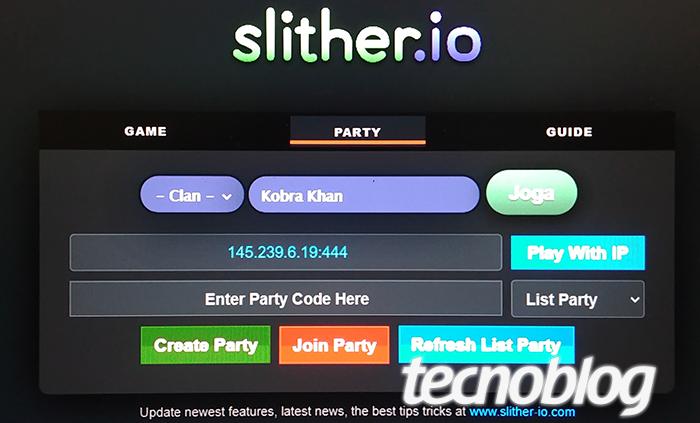 Como jogar Slither.io