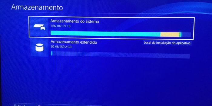 Como usar armazenamento estendido PS4
