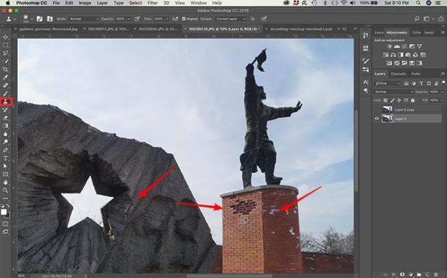 Como usar ferramenta carimbo no Photoshop