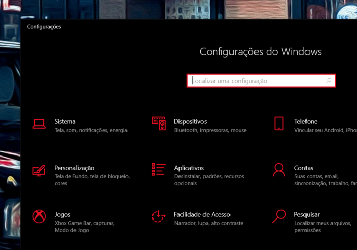configuracoes windows 10