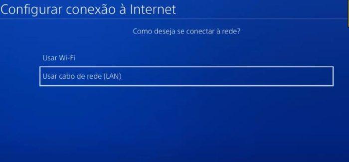 Como configurar internet do PS4 manualmente