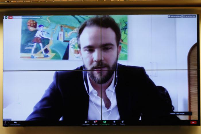 Dario Durigan, diretor de políticas públicas do WhatsApp (Foto: Gustavo Sales/Câmara dos Deputados - 27/07/20)