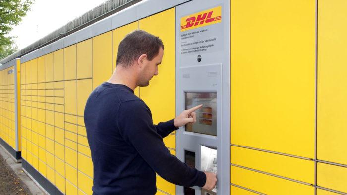 Locker usado pela DHL na Alemanha
