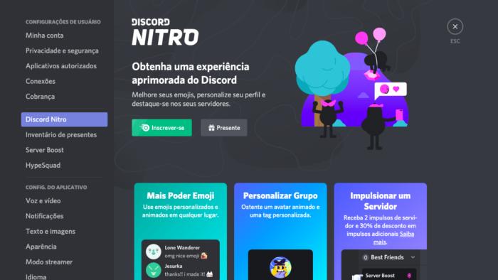 O que é Discord Nitro / Felipe Vinha / Reprodução