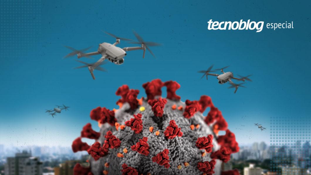 Especial de drones no combate a pandemia de coronavirus covid-19