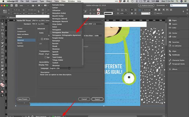 fechar um arquivo para impressão no InDesign