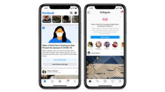 Facebook e Instagram colocam aviso no feed para usar máscara