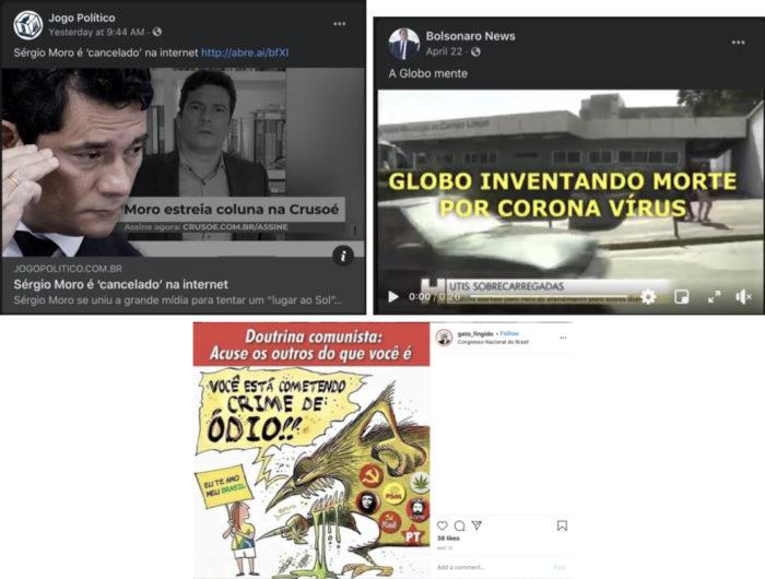 Perfis ligados a Bolsonaro e PSL foram removidos (Imagem: Facebook)