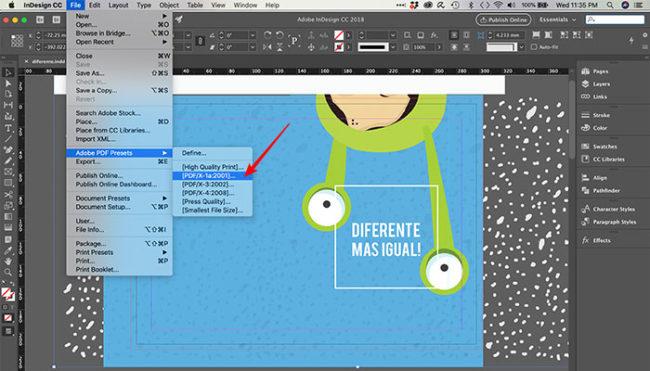 Como fechar um arquivo para impressão no InDesign