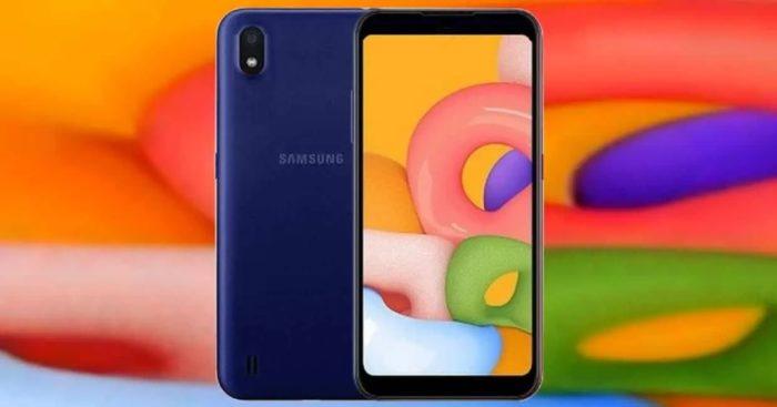 Possível design do Galaxy A01 Core (imagem: Gizchina)