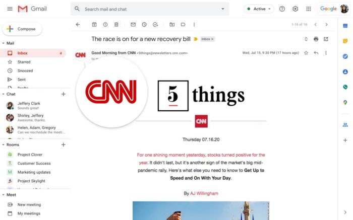 Gmail terá marcas verificadas para combater e-mails falsos (Foto: Divulgação/Google)