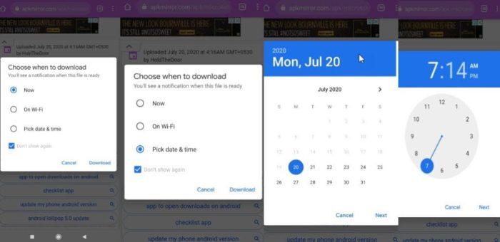 Ferramenta de agendamento de downloads do Google Chrome para Android (Foto: Reprodução/Techdows)