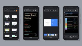 Google Docs e Planilhas ganham modo escuro no Android