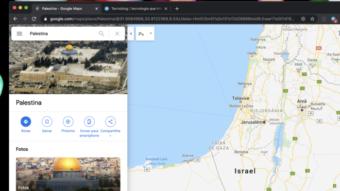 Google Maps é acusado de excluir Palestina, mas não é bem assim