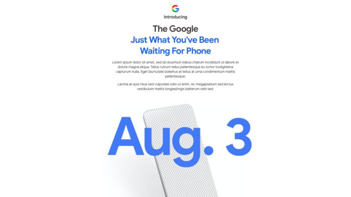 Teaser do Google Pixel 4a (Foto: Reprodução/Tecnoblog)