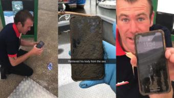 iPhone X sobrevive após seis dias no mar (e ainda tinha carga)