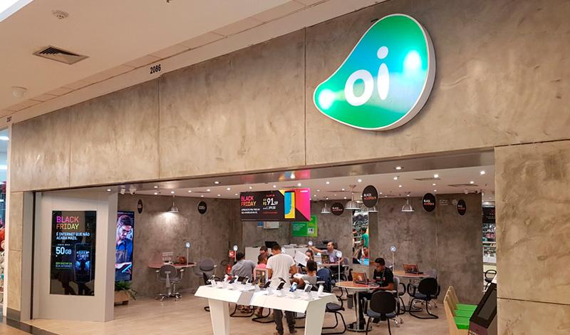 Loja da Oi em shopping. Foto: Divulgação