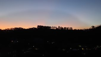 Foto de paisagem noturna