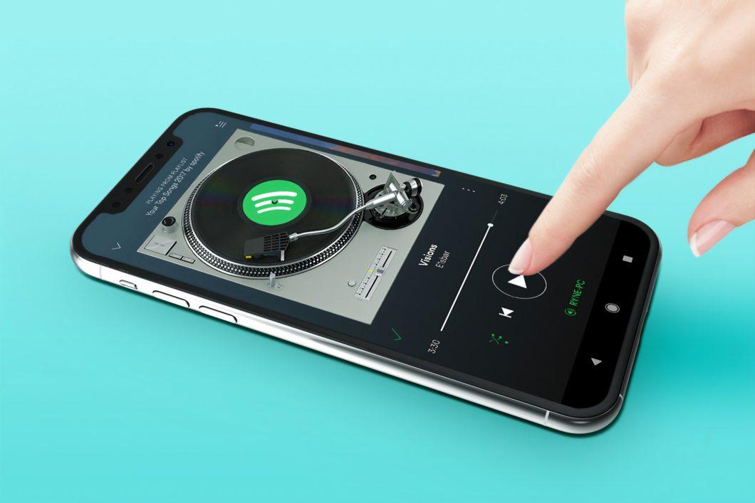 Spotify no celular (Imagem: Unsplash)