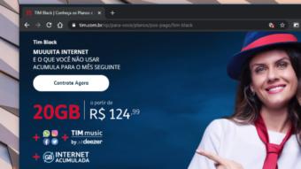 TIM Black ganha planos com mais internet e roaming internacional