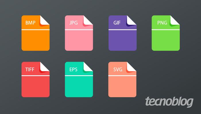 O que são os formatos BMP, JPG, GIF, PNG, TIFF, EPS e SVG