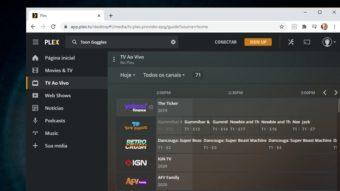 Plex lança TV com 80 canais ao vivo e gratuitos por streaming
