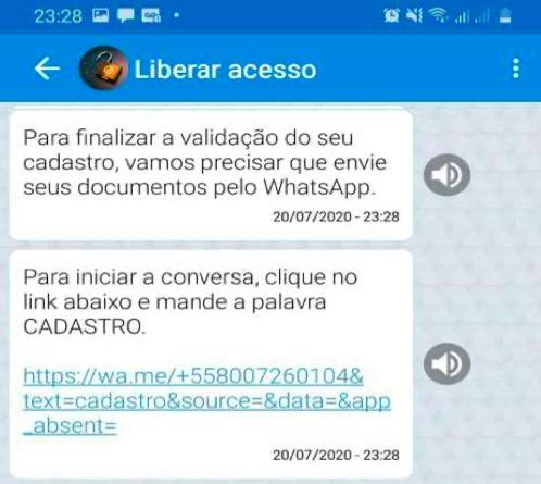 resolver bloqueio auxilio emergencial pelo caixa tem e whatsapp