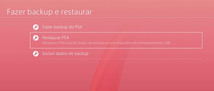 Restaurar-PS4
