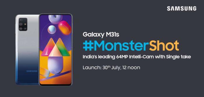 Samsung Galaxy M31s será anunciado em 30 de julho, na Índia (Foto: Reprodução/Amazon)