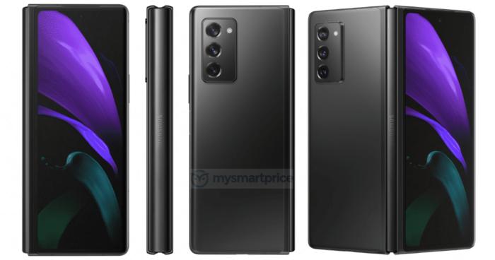 Samsung Galaxy Z Fold 2 na cor Mystic Black (preto) (Foto: Reprodução/MySmartPrice)