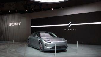 Sony vai testar carro elétrico Vision-S nas ruas de Tóquio