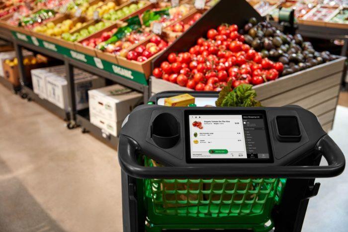 tela do Amazon Dash Cart