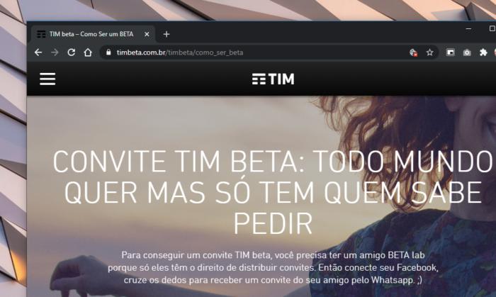 tim beta convite