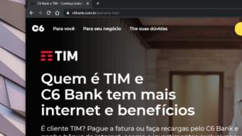 TIM e C6 Bank dão dinheiro de volta em recargas do pré-pago