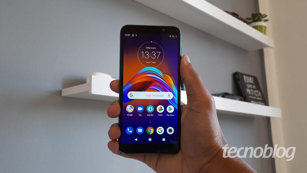 Interface do Motorola Moto E6 Play