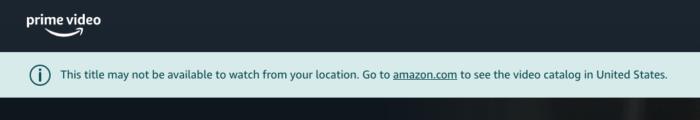 Amazon Prime VPN
