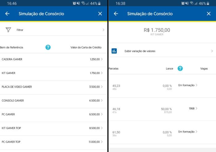 Banco do Brasil - consórcio gamer