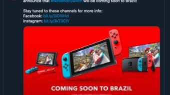 Nintendo confirma lançamento oficial do Switch no Brasil