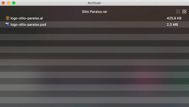 Como abrir arquivo .rar no Mac