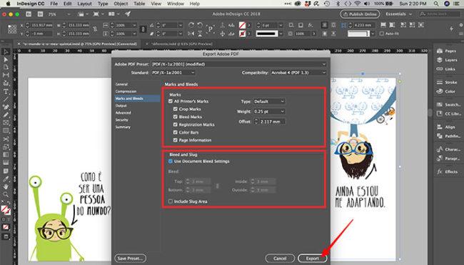 Como colocar marcas de corte no InDesign