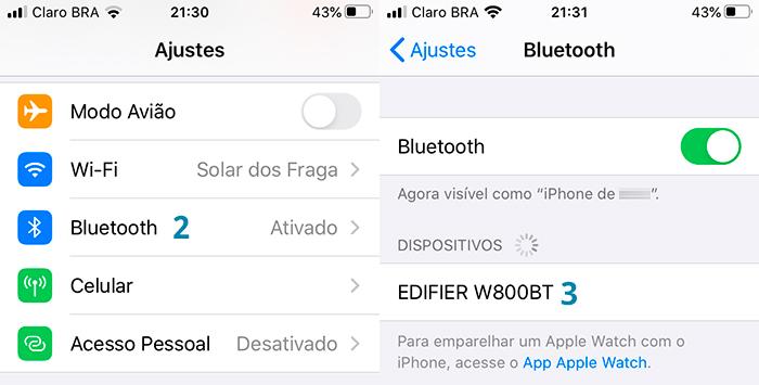Como conectar um fone Bluetooth no celular com iOS