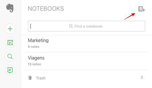 como criar cadernos evernote